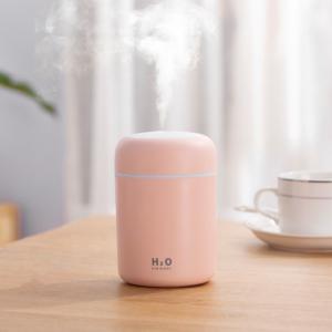 300 ml-es aromaterápiás párásító USB, rózsaszín
