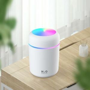 300 ml-es aromaterápiás párásító USB, fehér