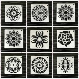 Mandala stencil rajzsablon 48 db-os