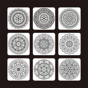 Mandala stencil 20 x 20 cm-es