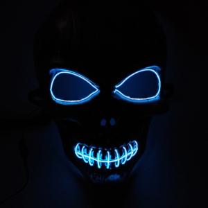 Neon party maszk - koponya