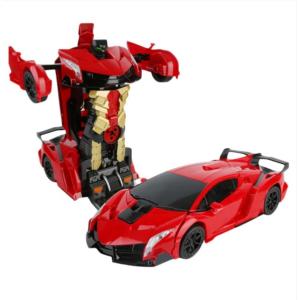 Távirányítós autó, játékautó, robottá alakítható autó Piros