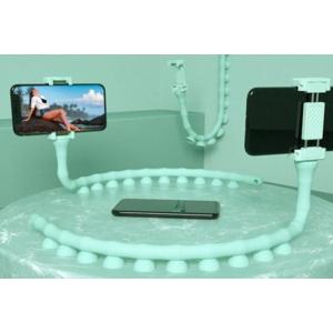 Tapadókorongos, flexibilis kukac telefontartó Világoskék