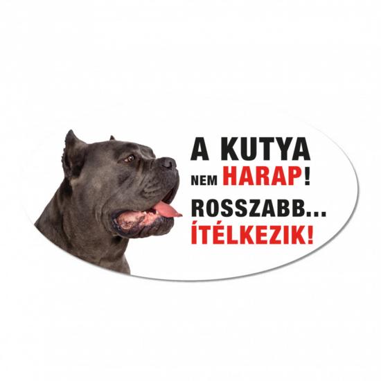 Vigyázz a kutya harap tábla műanyagból Cane Corso