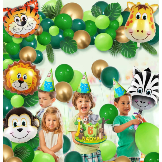 Dzsungel party lufi szett (109 darabos)