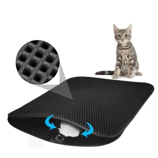 Kétrétegű macskaszőnyeg, macskaalom elé vagy állattartó ládába