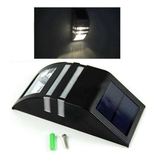 Napelemes mozgásérzékelős kültéri lámpa króm házzal