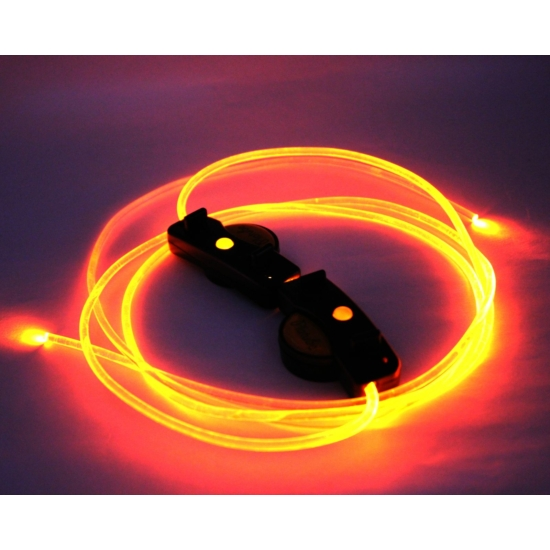 Világító cipőfűző, LED cipőfűző 1 pár Narancssárga