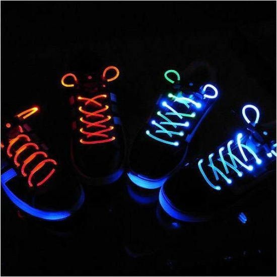 Világító cipőfűző, LED cipőfűző 1 pár Fehér
