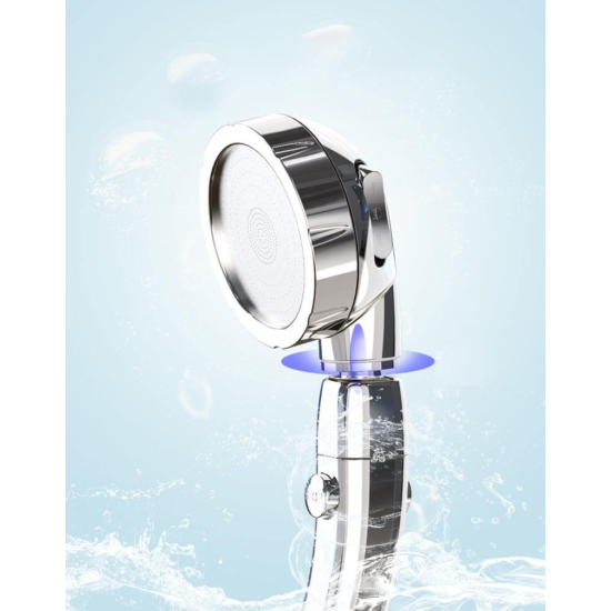 Zuhanyfej, zuhanyrózsa 3 üzemmóddal Ezüst színű