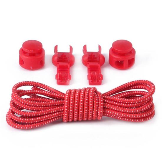 Elasztikus cipőfűző piros