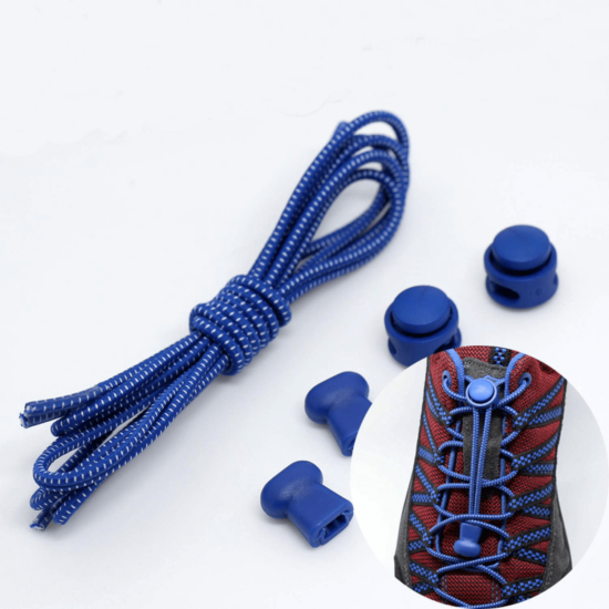 Elasztikus cipőfűző kék