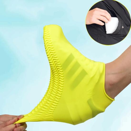 Cipővédő szilikon sárga L (42-45)