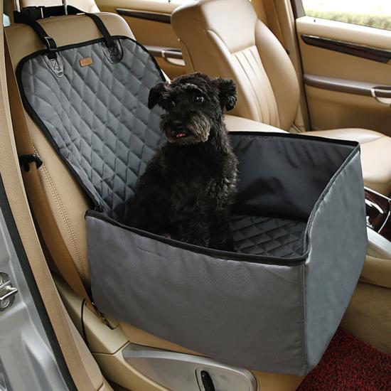 Autós kutyaülés (víz- és portaszító anyagból) Szürke