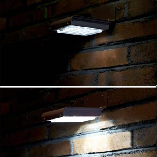 Kültéri, kerti lámpa (napelemes, 16 LED-es)