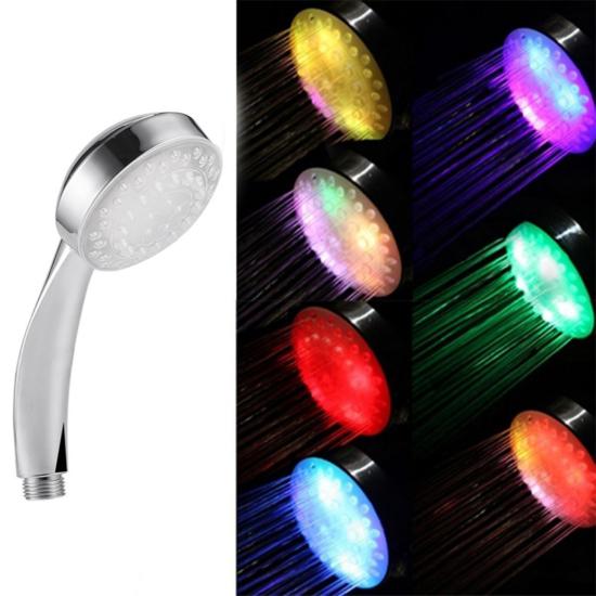 LED zuhanyfej 7 színű romantikus LED zuhany