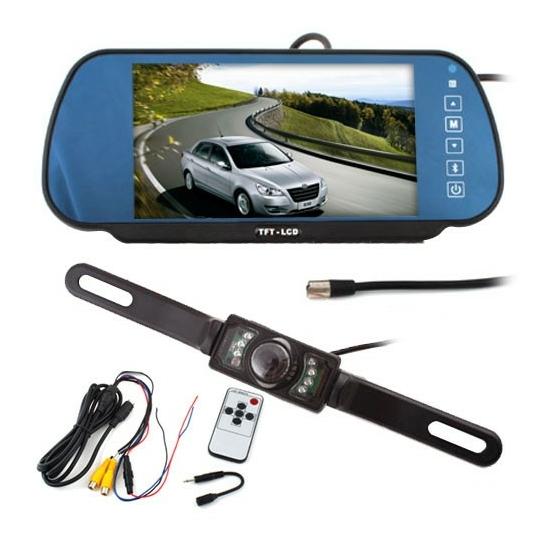 7'' TFT LCD Tükör monitor + Tolatókamera szett