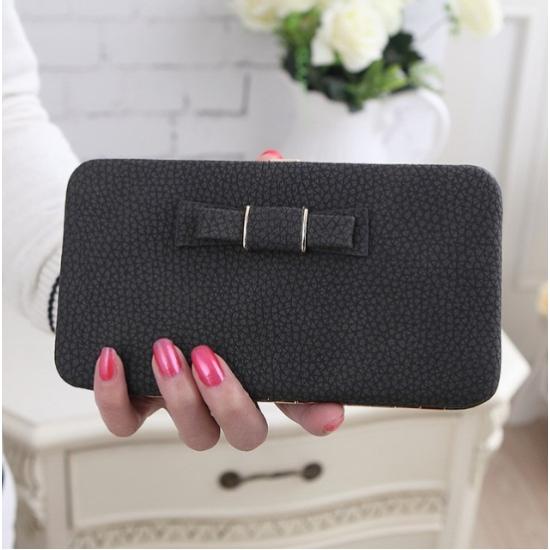 Női pénztárca, borítéktáska Fekete