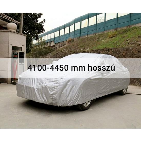4 évszakos, teljes autótakaró ponyva 4100-4450 mm hosszú