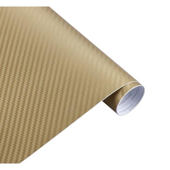 Karbon fólia, autófólia (127 x 15 cm) Arany