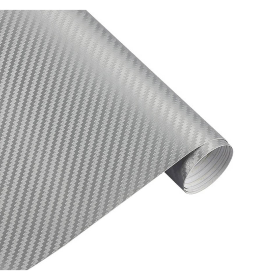 Karbon fólia, autófólia (127 x 15 cm) Ezüst