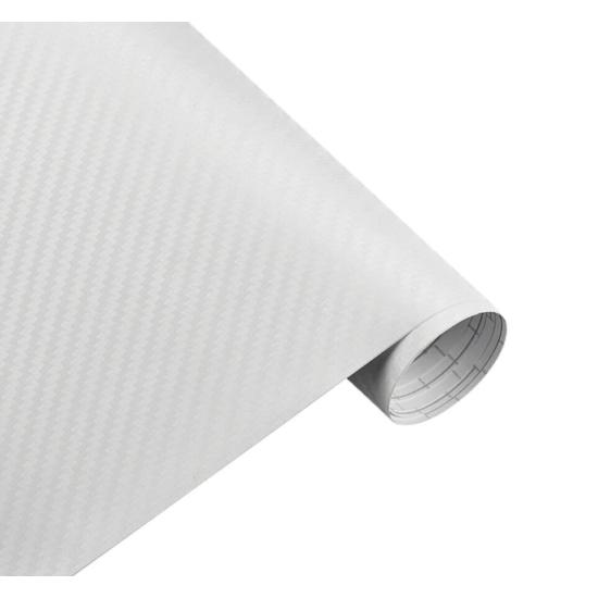 Karbon fólia, autófólia (127 x 15 cm) Fehér