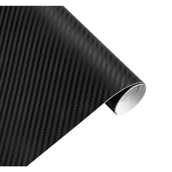 Karbon fólia, autófólia (127 x 15 cm) Fekete