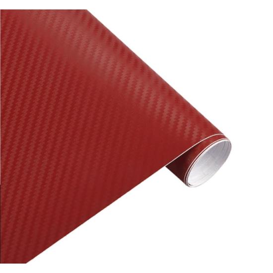 Karbon fólia, autófólia (127 x 15 cm) Piros