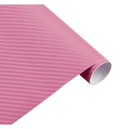 Karbon fólia, autófólia (127 x 15 cm) Rózsaszín