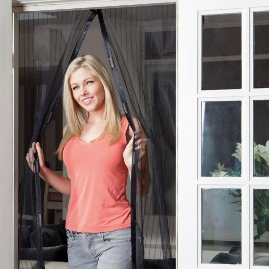 Mágneses szúnyogháló bejárati ajtóra Fekete