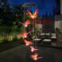 Kép 2/3 - Világító pillangós szélcsengő (napelemes) Lila-sárga
