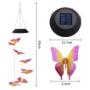 Kép 3/3 - Világító pillangós szélcsengő (napelemes) Lila-sárga