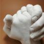 Kép 2/4 - MybbPrint XL felnőtt kézszobor készlet - akár 2 felnőtt kezéhez  - baba és felnőtt, lenyomat, lábszobor, kézszobor