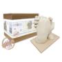 Kép 1/4 - MybbPrint XL felnőtt kézszobor készlet - akár 2 felnőtt kezéhez  - baba és felnőtt, lenyomat, lábszobor, kézszobor