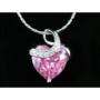 Kép 3/6 - Exclusive Swarovski kristályos szett szív alakú rózsaszin  kővel, Díszdobozban