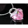 Kép 4/6 - Exclusive Swarovski kristályos szett szív alakú rózsaszin  kővel, Díszdobozban