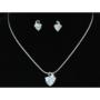 Kép 5/6 - Exclusive Swarovski kristályos szett szív alakú kővel, díszdobozban