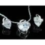 Kép 6/6 - Exclusive Swarovski kristályos szett szív alakú kővel, díszdobozban