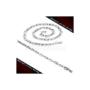 Kép 4/6 - Nagy szemű, geometrikus stílusú nemesacél nyaklánc és karlánc szett