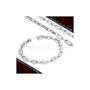 Kép 5/6 - Nagy szemű, geometrikus stílusú nemesacél nyaklánc és karlánc szett