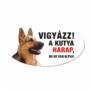 Kép 2/2 - Vigyázz a kutya harap tábla műanyagból Német Juhász kutya
