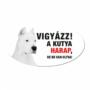 Kép 2/2 - Vigyázz a kutya harap tábla műanyagból ARGENTIN DOG