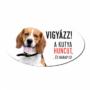 Kép 2/2 - Vigyázz a kutya harap tábla műanyagból BEAGLE