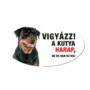 Kép 2/2 - Vigyázz a kutya harap tábla műanyagból ROTTWEILER