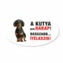 Kép 1/2 - Vigyázz a kutya harap tábla műanyagból rövidszőrű TACSKÓ