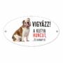 Kép 2/2 - Vigyázz a kutya harap tábla műanyagból Angol BULLDOG
