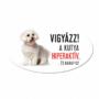 Kép 1/2 - Vigyázz a kutya harap tábla műanyagból BICHON HAVANESE