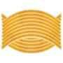 Kép 2/2 - 16 db Tuning felni csík narancssárga