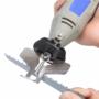 Kép 1/5 - Láncélező készlet, láncfűrész élező adapter szett multiszerszámhoz