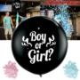Kép 2/4 - Boy or Girl lufi, Babaváró party léggömmb konfettivel